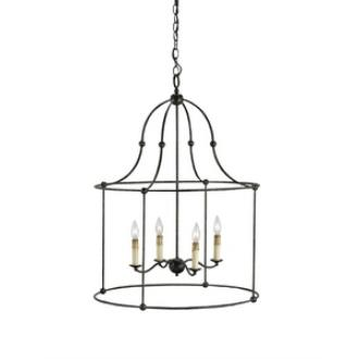 Currey and Company 9160 Fitzjames - Four Light Hanging Lantern
