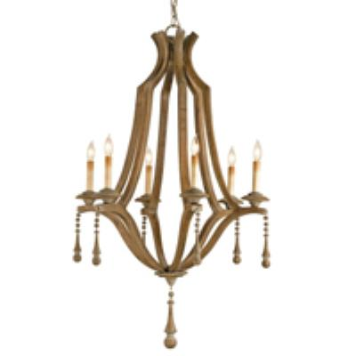 Currey and Company 9256 6 Light Simplicity Chandelier