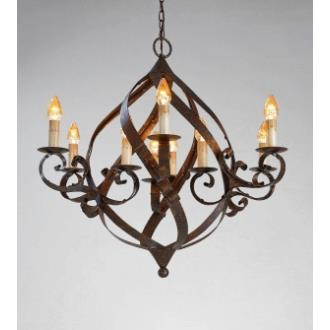 Currey and Company 9528 9 Light Gramercy Chandelier