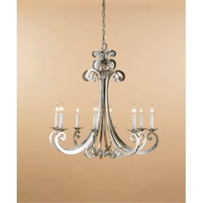 Currey and Company 9666 8 Light Constellation Chandelier