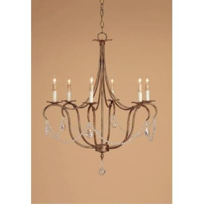Currey and Company 9880 6 Light Crystal Light Chandelier