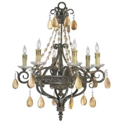 Cyan lighting 01023 Dorato - Six Light Chandelier