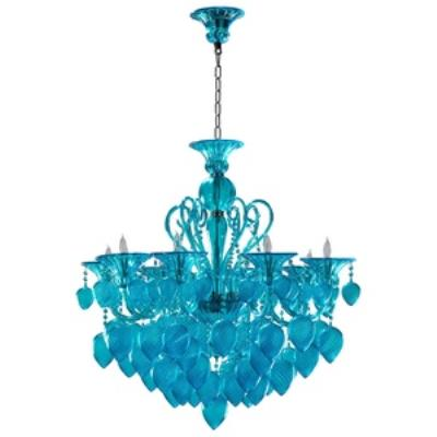 Cyan lighting 04618 Bella Vetro - Eight Light Chandelier