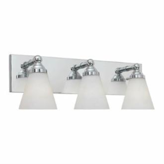 Designers Fountain 6493-CH Hudson - Three Light Bath Bar