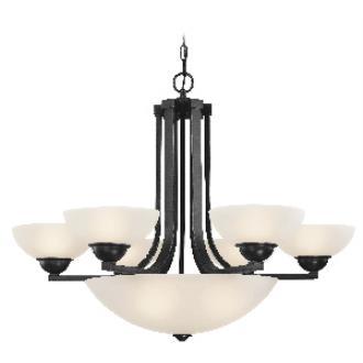 Dolan Lighting 205-46 Fireside - Nine Light Bowl Chandelier