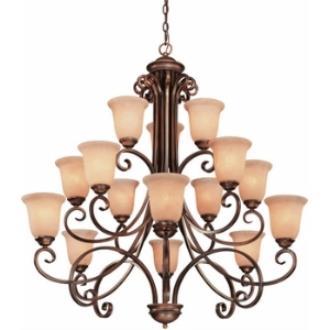 Dolan Lighting 2093 Medici - Fifteen Light Three Tier Chandelier