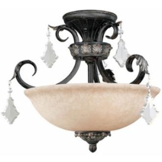 Dolan Lighting 2105-148 Florence - Three Light Semi - Flush Mount