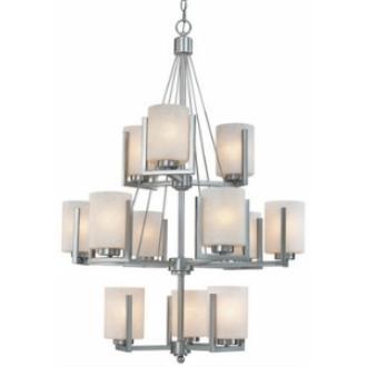 Dolan Lighting 2243-09 Uptown - Twelve Light Three Tier Chandelier
