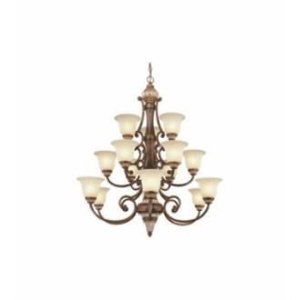 Dolan Lighting 2643 Bonita - Fifteen Light Three Tier Chandelier