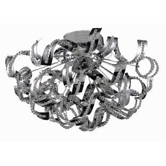 Elegant Lighting 2068F25C/EC Tiffany - Nineteen Light Flush Mount