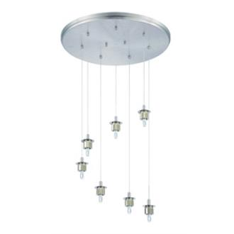 Forecast Lighting FA0064836 Sparkle 7-light pendant holder in Satin Nickel finish
