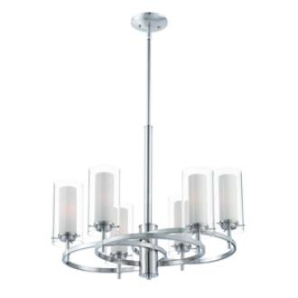 Forecast Lighting FK0002836 Hula 6-light chandelier in Satin Nickel finish