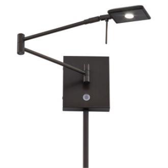 "George Kovacs Lighting P4328-647 13"" LED Swing Arm Wall Lamp"