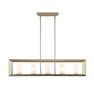 Golden Lighting 2073-LP WG Smyth - Five Light Linear Pendant