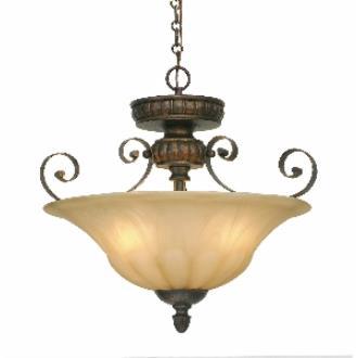 Golden Lighting 7116-SF LC Convertible Semi-Flush