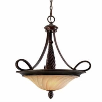 Golden Lighting 8106-3P Torbellino - Three Light Bowl Pendant