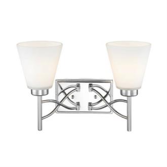 Golden Lighting 9106-BA2 CH Taylor - Two Light Bath Vanity