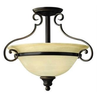 Hinkley Lighting 4561AT Cello Semi Flush 3lt Foyer