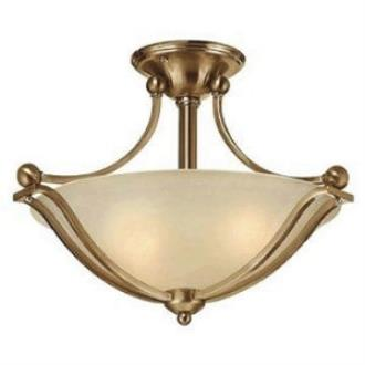 Hinkley Lighting 4651BR Bolla Collection 2 Light Semi-Flush