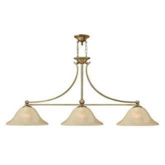 Hinkley Lighting 4666BR 3LT ISLAND CHANDELIER