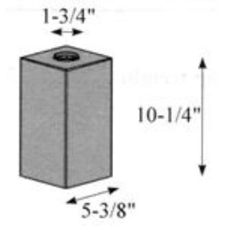 "Hubbardton Forge 29-0591-OP Glass -Box 5.38""Sq x 10.19"""