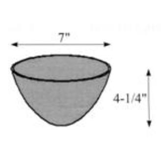 "Hubbardton Forge 29-0760-ST Glass -Dome 7.07""OD x 4.26"