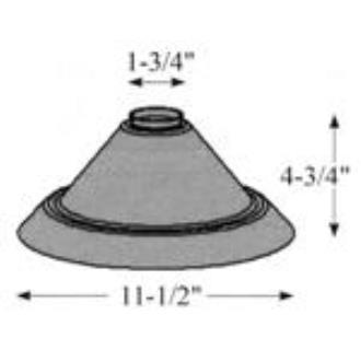 Hubbardton Forge 29-1230-ST Glass -Stp Cone 11.42 x 4.72