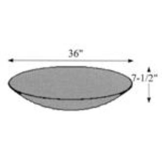 """Hubbardton Forge 29-3650-SW Glass -Bowl 36""""OD x 7.38"""""""