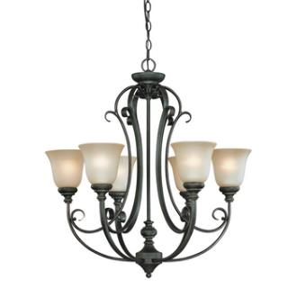 Jeremiah Lighting 24226-MB Barret Place - Six Light Chandelier