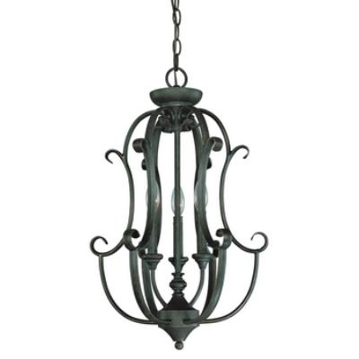 Jeremiah Lighting 24233-MB Barret Place - Three Light Chandelier