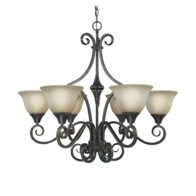 Jeremiah Lighting 24926-BA Torrey - Six Light Chandelier