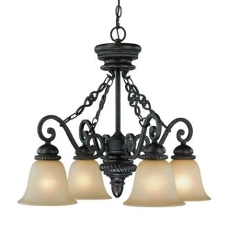 Jeremiah Lighting 25224-MB Highland Place - Four Light Down Chandelier