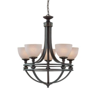 Jeremiah Lighting 25425-OB Seymour - Five Light Chandelier