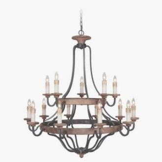 Jeremiah Lighting 36515-TBWB Ashwood - Fifteen Light Chandelier