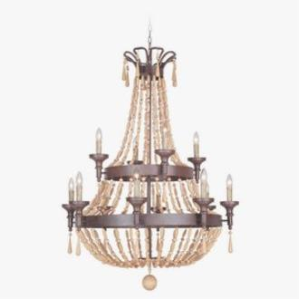 Jeremiah Lighting 36812-AG Berkshire - Twelve Light Chandelier