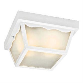 Kichler Lighting 11026WH One Light Outdoor Flush Mount