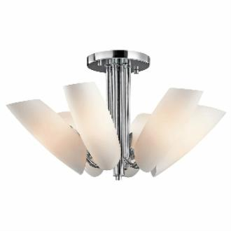 Kichler Lighting 42217CH Stella - Six Light Semi-Flush Mount