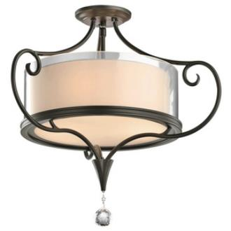 Kichler Lighting 42866SWZ Laurel - Three Light Semi-Flush Mount