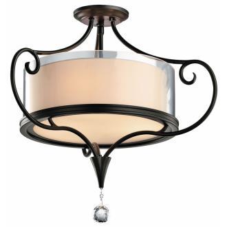 Kichler Lighting 42866SWZ Laurel - Three Light Semi-Flush Mount