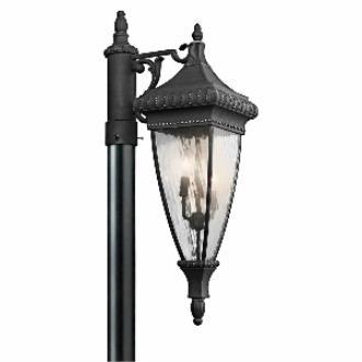 Kichler Lighting 49133BKG Venetian Rain - Three Light Outdoor Post Mount