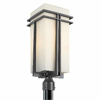 Kichler Lighting 49204BK Tremillo - One Light Outdoor Post Mount