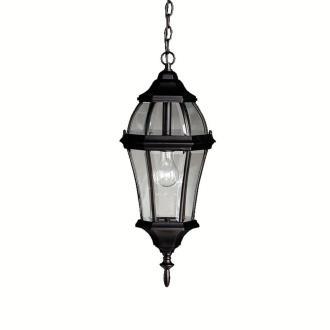 Kichler Lighting 9892BK Townhouse - One Light Outdoor Pendant