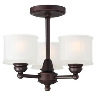 Minka Lavery 1738-167 1730 Series - Three Light Semi-Flush Mount