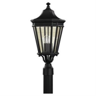 Feiss OL5407BK Cotswold Lane - Three Light Outdoor Post Mount