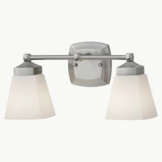 Feiss VS19902-BS Delaney - Two Light Bath Vanity Strip