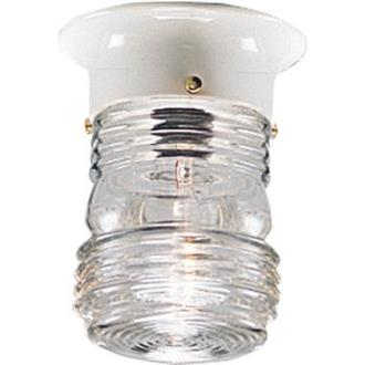 Progress Lighting P5603-30 Utility - One Light Outdoor Flush Mount