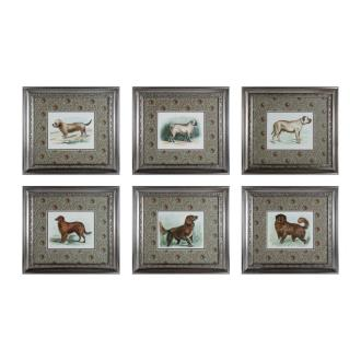"""Sterling Industries 10052-S6 20"""" Classic Dogs Wall Art - (Set of 6)"""