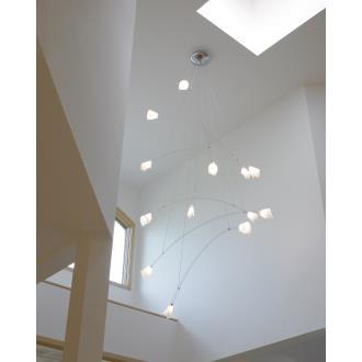 Tech Lighting 700CRES Crescendo - Fourteen Light Line-Voltage Chandelier