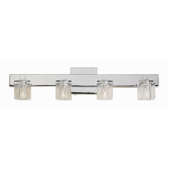 Trans Globe Lighting 2844 Four Light Crystal Bath Bar