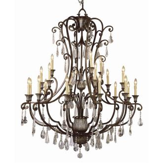 Trans Globe Lighting 3961 Crystal Flair - Twenty One Light Chandelier with Crystal Accent
